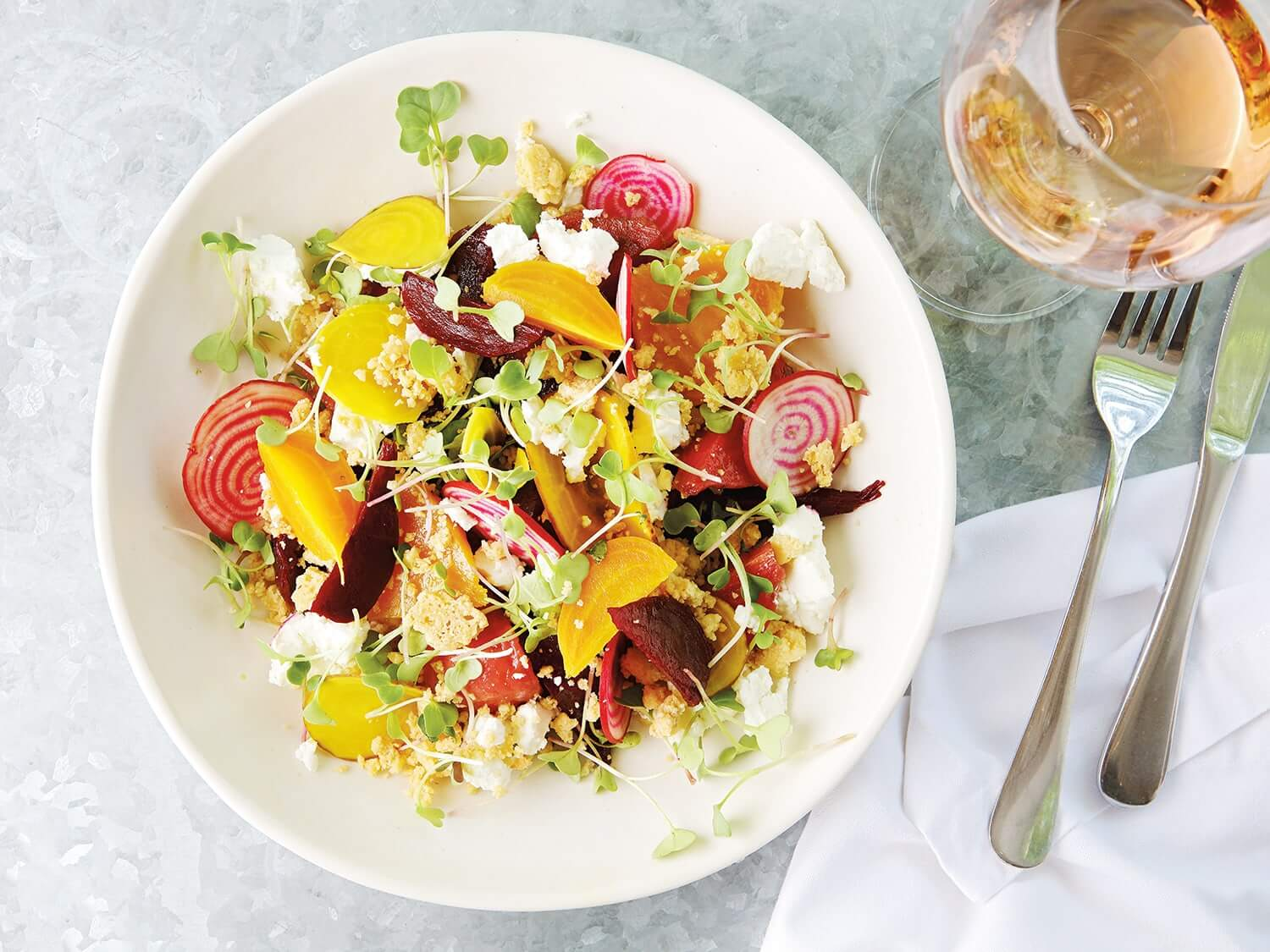 Bright and beautiful lunch salad. Photo by Elsa Young.