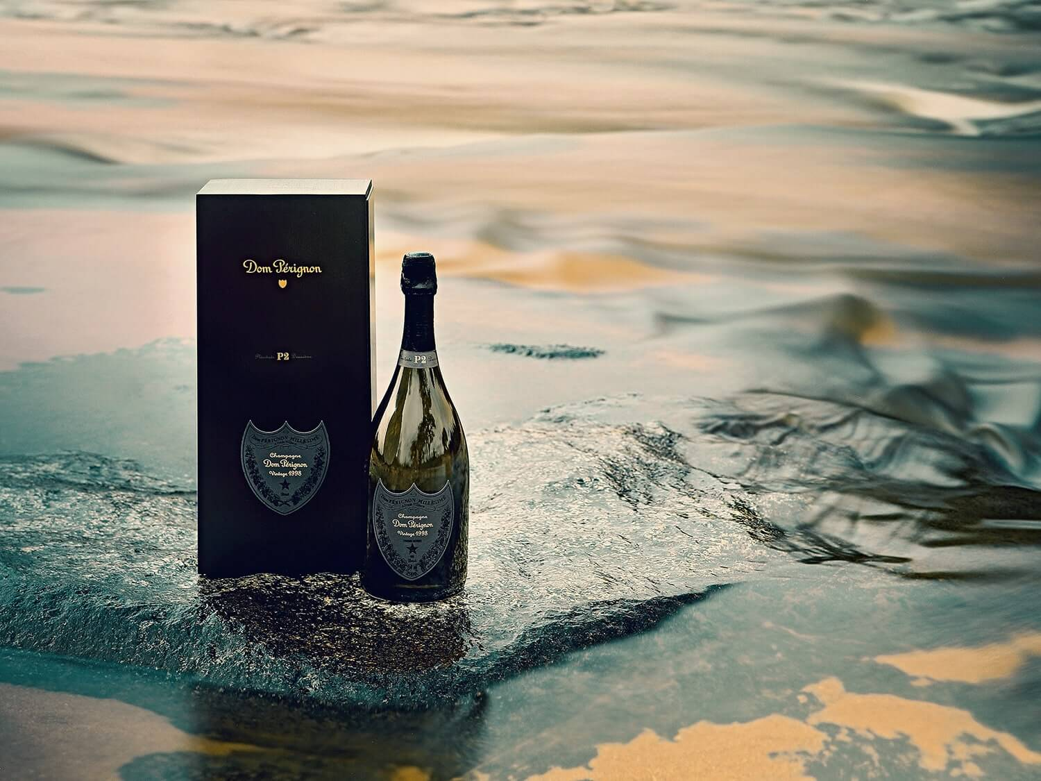 Bottles of Dom Perignon. Photo by Elsa Young.