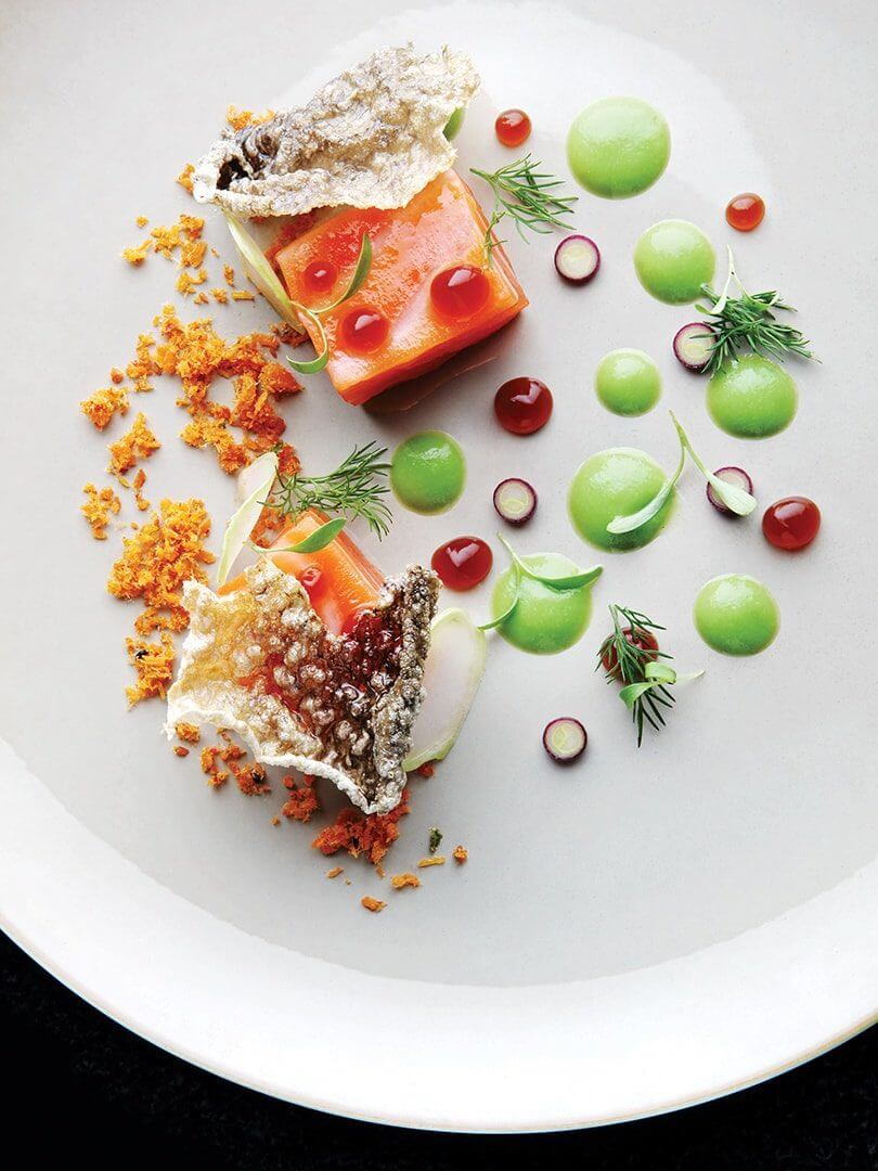 A playful plate of cured salmon at The Four Seasons. Elsa Young Photography.
