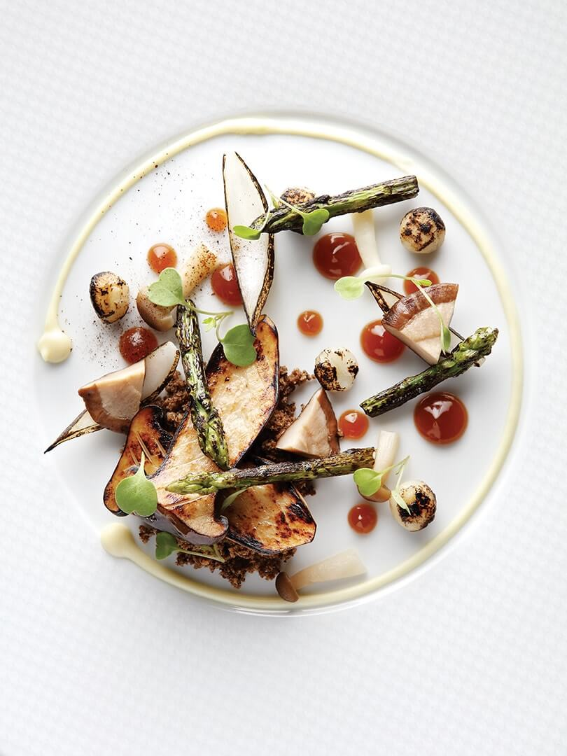 A plate of wild porcini mushrooms at The Four Seasons. Elsa Young Photography.