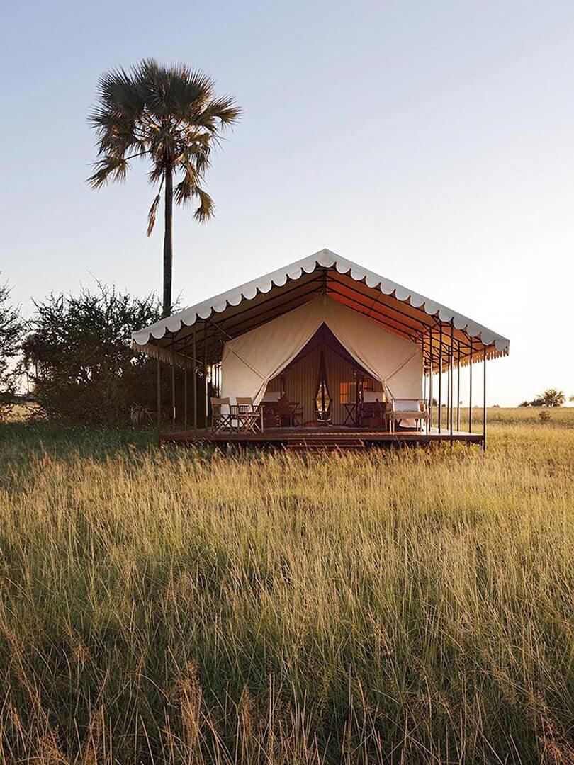 Stunning tented suite on the Botswanan plains. Photo by Elsa Young.