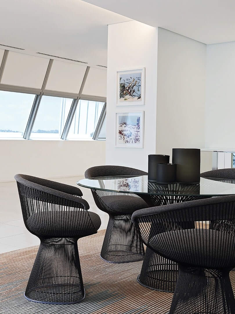 Small meeting room with modern furniture. Elsa Young Photography.