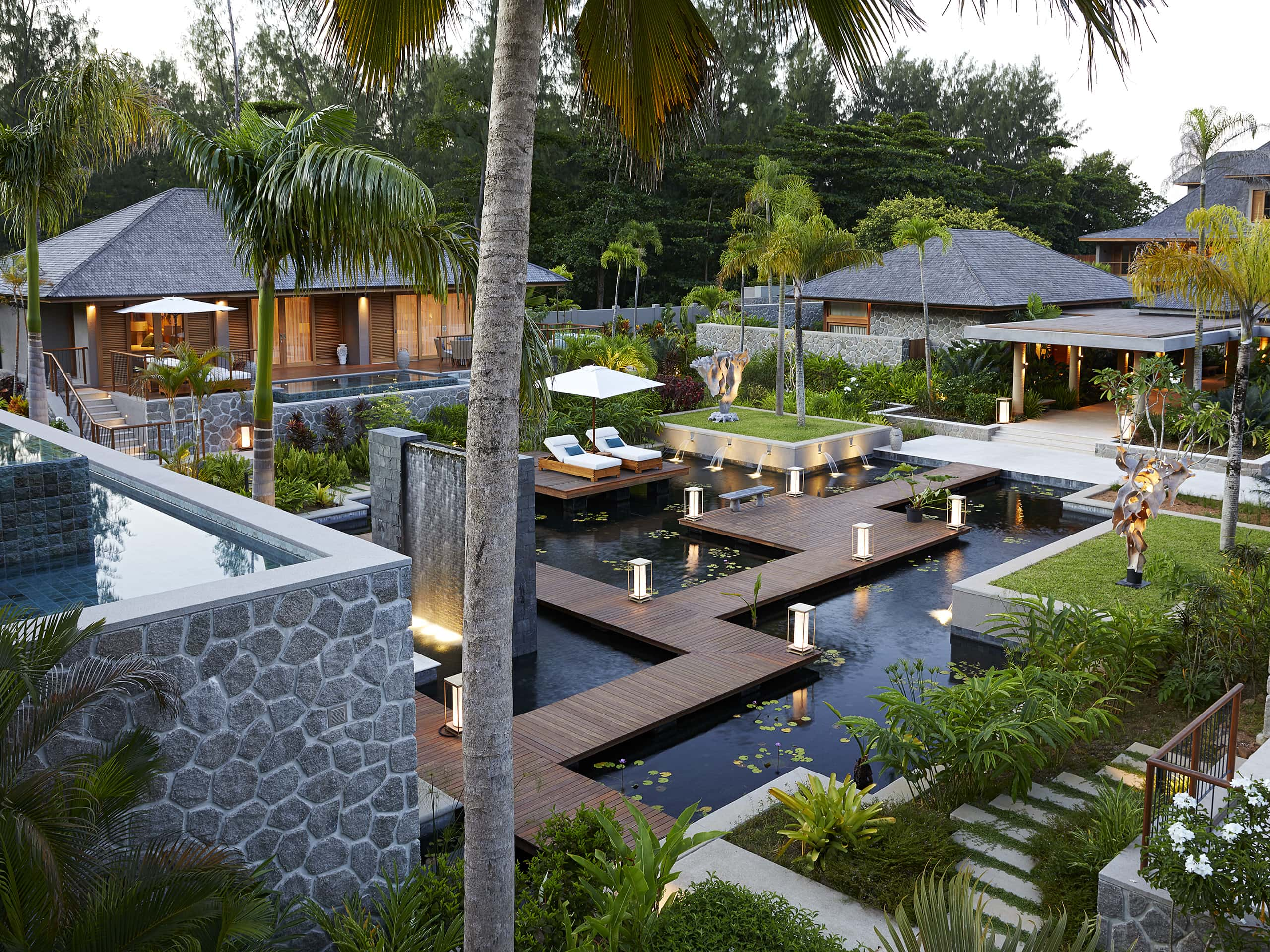 The exquisite Wharf Hotel, Seychelles.
