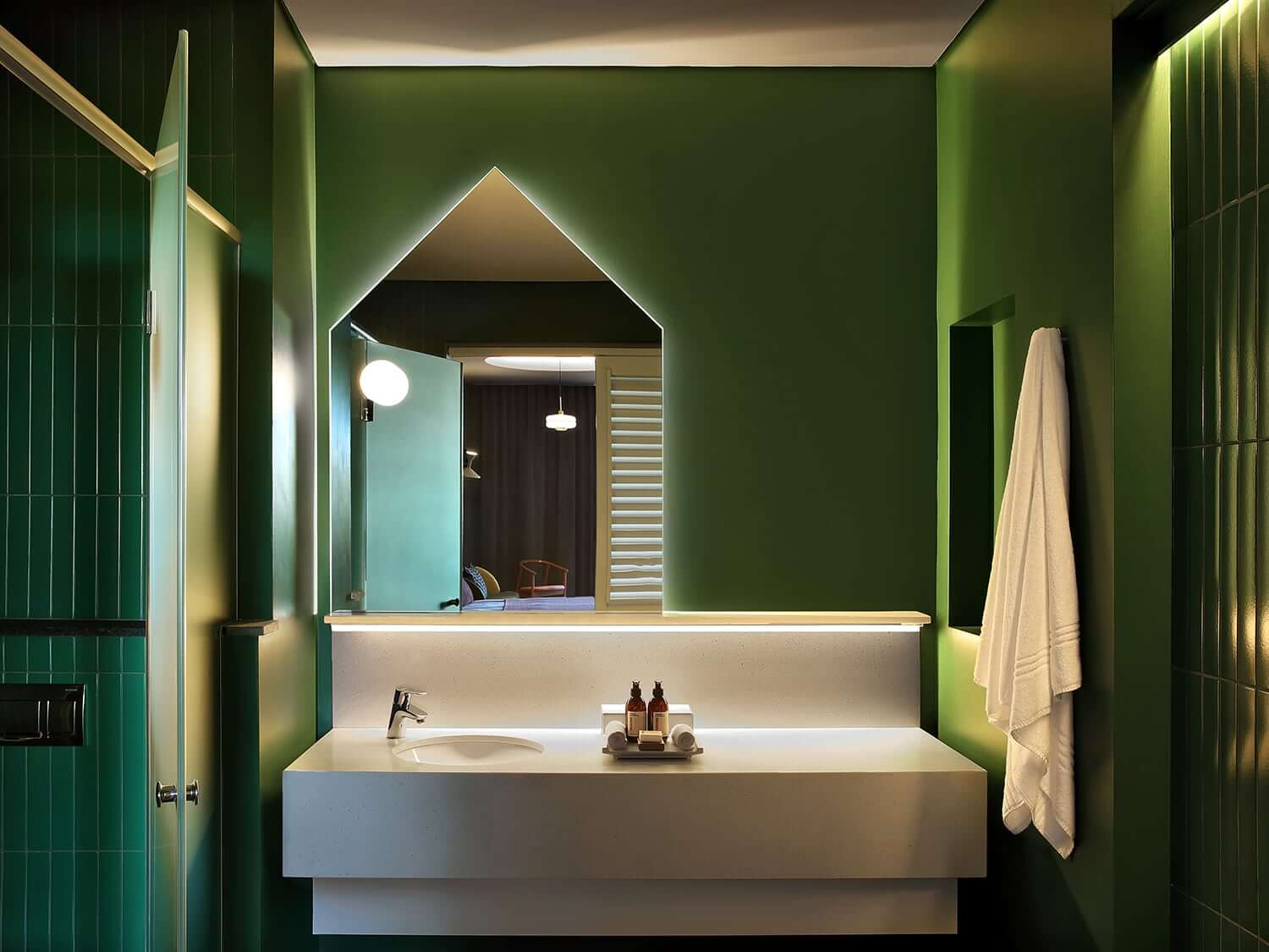 Bathroom is Home Suite Hotels, Johannesburg. Photo by Elsa Young Photography.